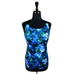 Champion Blue Tie Dye Women's Tank Top. Size: S